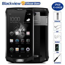 "Blackview BV8000 Pro IP68 Waterproof Mobile Phone 5.0"" FHD MTK6757V Octa Core 6GB RAM 64GB ROM 16MP Cam Side Fingerprint 4G LTE"