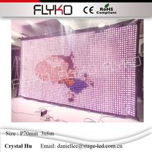 China display screen factory price high quality Flyko stage equipment led backdrops wall p70mm 3x6m sexy charming video(China)