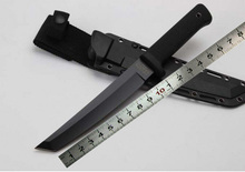 black tin coated Recon Tanto 13RTK 7Cr17Mov Fixed blade knife ABS handle titanizing cold steel straight knives KYDEX shealth(China)