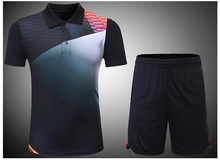 17/18 badminton suit spring summer men & women sportswear quick-drying tennis tracksuit short-sleeved badminton jersey & shorts(China)