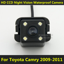 For Toyota Camry Sedan 2009 2010 2011 Car CCD Night Vision 4LED Backup Rear View Camera Waterproof Parking Assistance