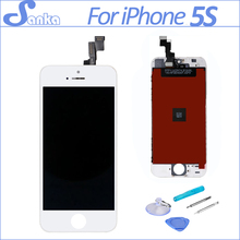 SANKA AAA LCD For iPhone 5S Screen Touch Screen Digitizer Assembly Replacement Pantalla LCD Display Mobile Phone Parts White(China)