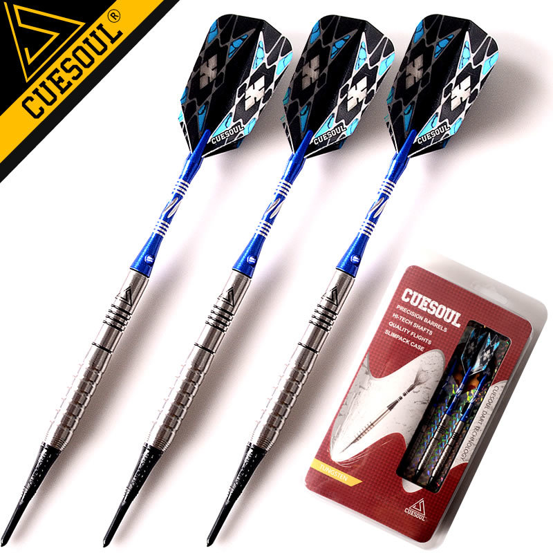 CUESOUL Tungsten Darts Professional Soft Tip Darts 18g 15cm Electronic Soft Tip Darts<br>