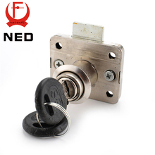 NED-101 Iron Drawer Lock Furniture Desk Cabinet Locks 16mm Lock Core 22 Thickness With Two Keys Security Hardware