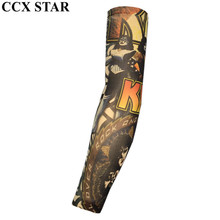 CCX STAR Kiss Rock Nylon Fake Tattoo Arm Warmers Oversleeve Temporary Tattoo Arm Sleeves BXT0040(China)