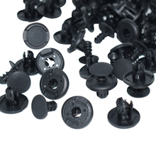 100 x 8mm Hole Nylon Car Door Trim Panel Clips Plastic Plug Rivet Push Bumper Fender Clip Black for Automotive SUV Truck Bus