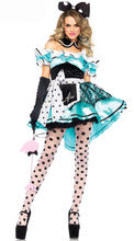 Vocole Alice in Wonderland Sexy Tube Top Wave point Minnie Mouse Costume Halloween Carnival Party Fancy Dress