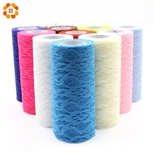15cm x 10yard Tulle Organza Roll Fabric Sheer Gauze Element For Table Runner And Home Garden Wedding Party Decoration(China)
