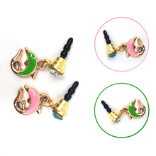 2Pcs Dust Plug Dust Plug Color Hot Mobile Phone Dolphin 3.5mm New Cute