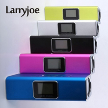 Larryjoe New JH-MAUK5B LCD Screen Active Audio FM USB Wireless Portable Mini Speaker with SD/TF