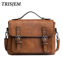 Buy Trisjem famous brands leather bag vintage handbags women tote bag handbag luxury leather 2018 bolsos vintage mujer sac femme for $22.78 in AliExpress store