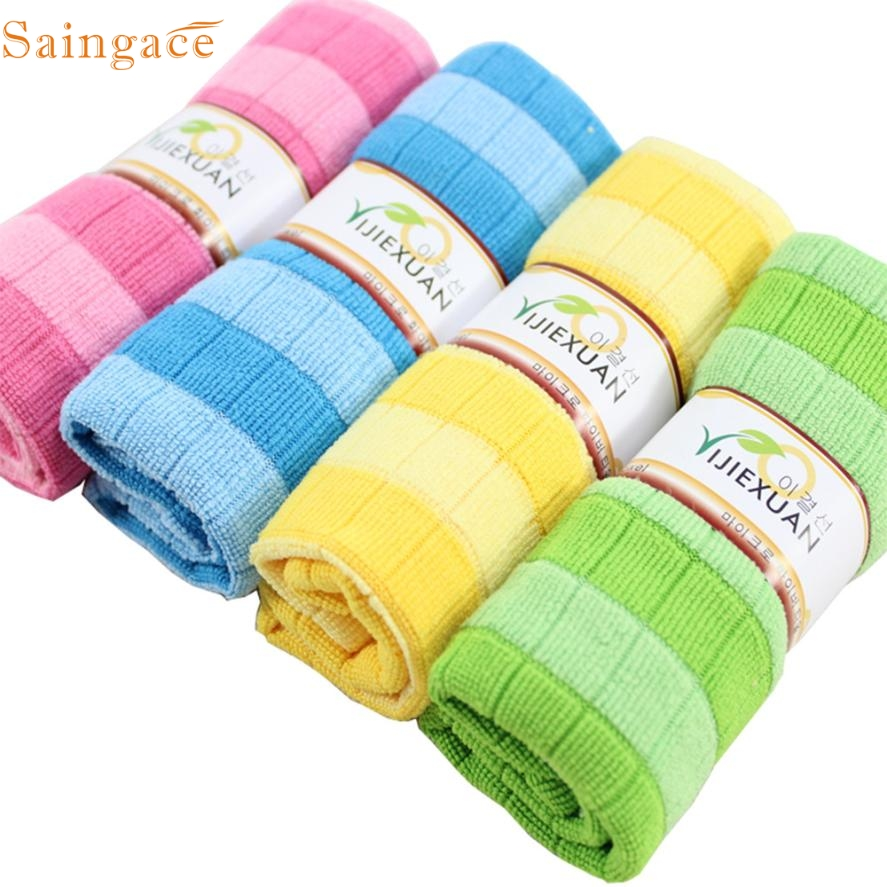 May 18 Mosunx Business 4pcs Soft Cotton Car Cloth Towel House Cleaning Practical Kitchen Cleaning Wiping(China (Mainland))