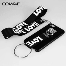 OCWAVE Neck lanyard case for iphone 7 Luxury leather material fashion love strap rope capa for iphone 7 moblie phone cases