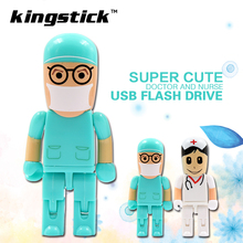 Doctor Nurse Usb Flash Drive 4GB 8GB 16GB Cartoon Robot Medical Pen Drive 32GB 64GB Usb Stick Memory Stick Pendrive 2017