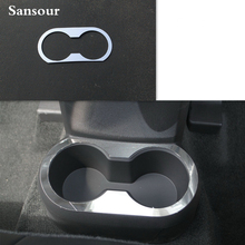 Rear Cup Holder For Jeep Compass Patriot 2011-2016 Stainless Steel Car Bottle Cup Decorative Cover Car Cup Cushion(China)