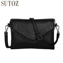 Retro Fashion Alligator Design Women's Clutches Office Lady Pouch Small Shoulder Bags Purse Pocket Messenger Flaps Bag BA180(China)