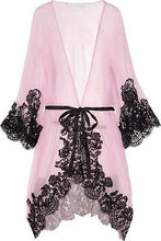 New Women's Hot Sexy Silk Satin Lace Gown Bath Robe Nightwear Lingerie Dress UK