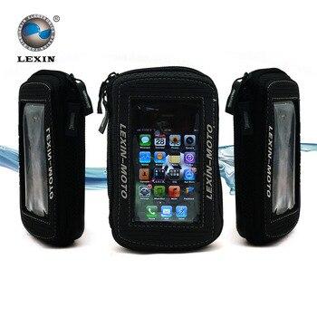 Marque Lexin 5 pouce Noir Huile Du Réservoir de Carburant Sac Magnétique Moto Moto selle sac pour Iphone5 5S Samsung Glaxy S3 VTT-02