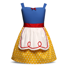 Cosplay Costume Little Girl Kindergarten Baby Girl Stage Performance Dress For 1-5 Yrs Girls Snow White Princess Girl Clothing(China)