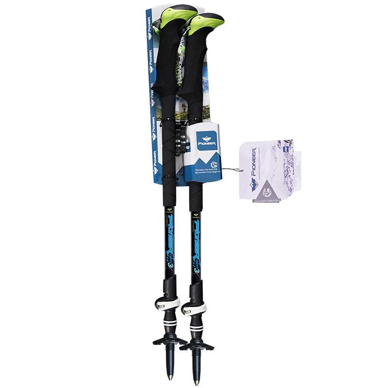 2017 carbon fiber ultralight nordic walking sticks telescopic trekking poles trekking hiking poles foldable walking stick<br><br>Aliexpress