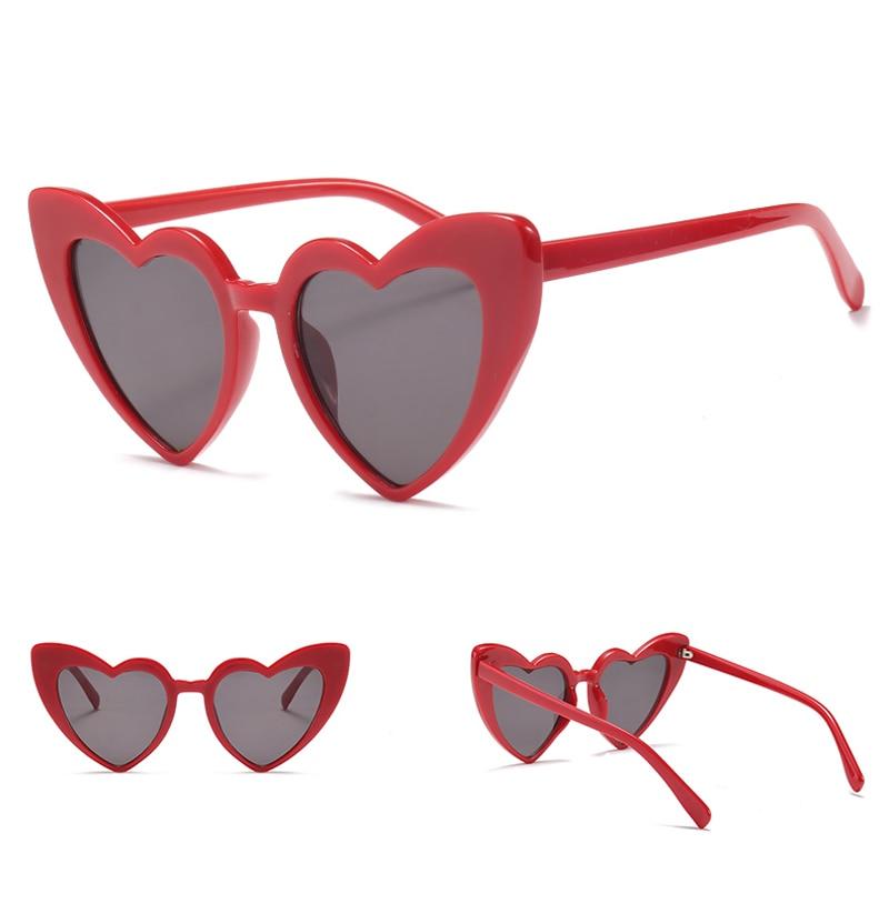 love heart sunglasses women cat eye vintage 7112 details (7)