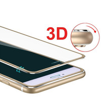 For iPhone 7 Screen Protector Tempered Glass Full Cover Curved 3D Edge Aluminum alloy For iPhone 5 5s 6 6s 7 Glass