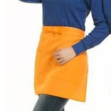 New Universal Kitchen Cotton Bow Short Half Waist Apron Bar Cafe Server Waiter Waitress Cooking Chef Cleaning Aprons 7 Colors(China)