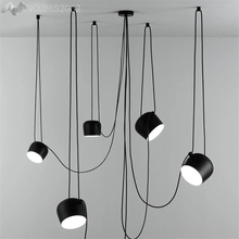 JW_Post-mordern Nordic Iron LED Pendant Lights for Dining Room Bar Cafe Clothing Store Window Decoration Drums Hanging Lights(China)