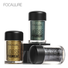 FOCALLURE 12 Colors Glitter Eye Shadow Loose Powder Diamond Shimmer Pigment Eyeshadow Makeup Eyes Pigment Powder(China)