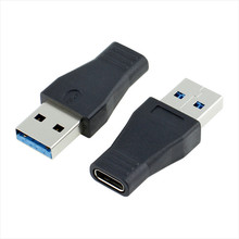 100pcs/lot* black Type A USB 3.0 male Connector to Type C USB 3.1 FeMalec Data Cable Converter Adapter For Phone