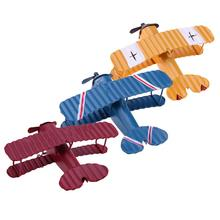 1 Pc Mini Vintage Metal Plane Model Aircraft Glider Biplane Aeromodelo Airplane Model Kids Toy Cute Home Office Xmas Decorations(China)