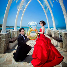 Hot Selling Brand New Diamond Ring Foil Helium Balloon Wedding Engagement Hen Party Decoration Romatic Ballon High Quality(China)