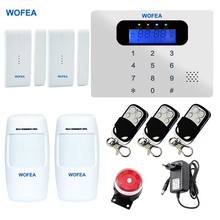 WOFEA Super Thin Touch GSM Alarm Systems Android IOS APP Alarms Home Security System(China)