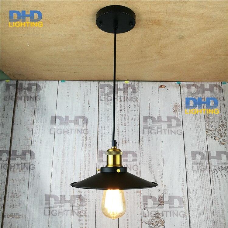 Free shipping dia.22*H11cm North American style Vintage nostalgic bar table light bulb black iron pendant light single bar lamps<br>