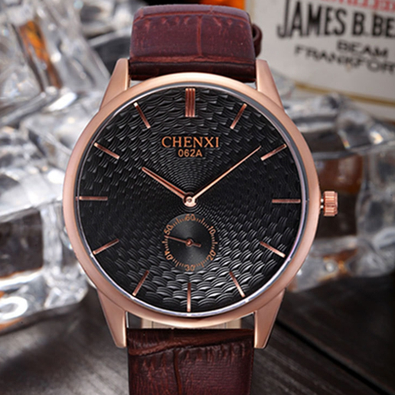Chenxi Real Hot Sale 2017 Fashion Casual Mens Watches Brand Luxury High Quality Leather Waterproof Quartz Wrist For Men Boys <br>