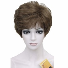 Lady Women Short Syntheic Natural Wave Wigs Light Brown Hair Wig COLOUR CHOICES(China)