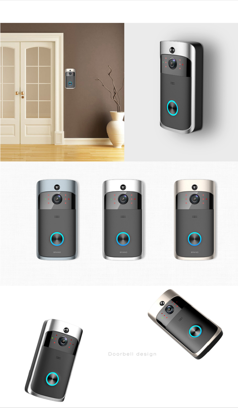 13 Wireless Doorbell Ring Chime Door Bell Video Camera WiFi IP 720P Waterproof IR Night Vision Two Way Audio