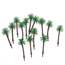 14pcs Mini Green Scenery Landscape Model Green Coconut Palms Tree in Different Sizes