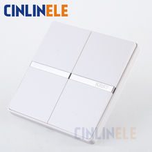 1Pcs Luxury Wall Switch, 2 Gang 1 Way, Ivory White, Brief Art Weave, Light Switch, AC 110~250V  10A No border design 86mm*86mm