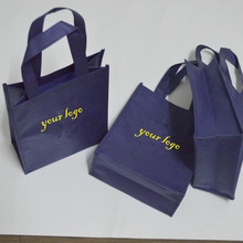 500pcs 20*25*9cm small printing shopping bag lot sewing non woven bag side handmade promotional logo bags wedding gift package(China)