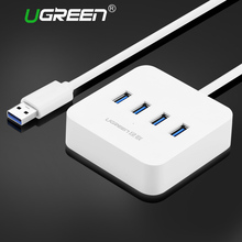 Ugreen USB 3.0 HUB 4 Ports High Speed 5Gbps USB Splitter with Power Charging Interface for Windows Mac Linux Laptop PC Usb Hubs