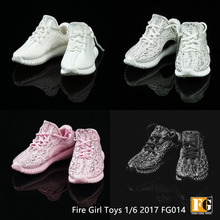 "Fire Girl Toys 1/6 FG014 Trend Coconut Sports Leisure Hollow Shoes for 12"" Figure Doll Toys Accessories"