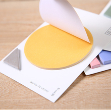 Creative Simple Style Block Self-adhesive Sticky Notes Memo Pads Notepads Diy Paper Craft Stationery School Office Supply