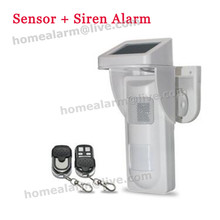 Simple on-site alarm 16 voice optional wireless intelligent outdoor solar PIR alertor for house,villar,forest,farm,park,ect(China)