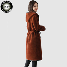QBK DPU 2017 brand autumn winter lamb wool coat outerwear women warm cashmere woolen slim overcoat Female Cashmere jacket(China)