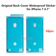 "10pcs/Lot Original for iPhone 7 4.7"" Back Cover Waterproof Adhesive Sticker Replacement Part(China)"