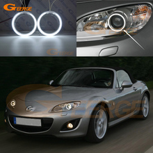 For MAZDA MX-5 MIATA 09 10 11 12 13 14 15 XENON HEADLIGHT Excellent Angel Eyes Ultra bright illumination CCFL Angel Eyes kit(China)