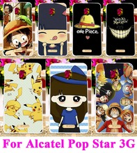 AKABEILA Plastic Hard Case for Alcatel One Touch Pop Star 5022D 3G OT5022 5022X Back Cover Bag Little Girl Yellow Little Hat
