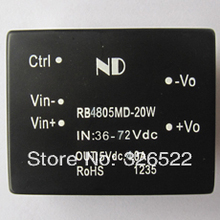Free shipping~ 48V to 5V 20W DC DC converters wide input Single output Isolated dc-dc power modules