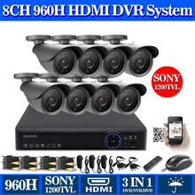 Home 8CH 960H DVR recorder kit 8pcs in/outdoor 1200TVL Camera Security CCTV surveillance System,HDMI 1080P,USB 3G WIFI,iCloud